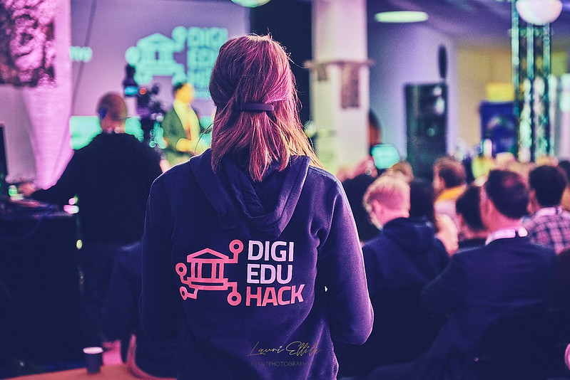 DigiEduHack main stage event at Aalto University, Finland.